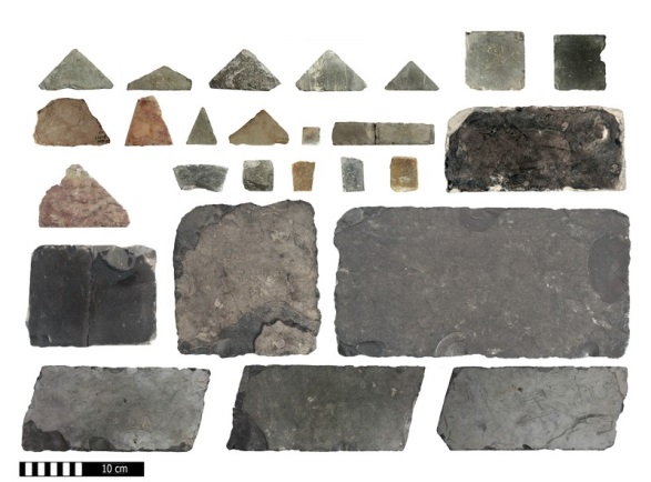 Floor tiles of various shapes, colors and sizes that were used in the opus Sectile Roman Paving technique in royal structures. This type of floor is mentioned in the writings of Flavius Josephus regarding the floor of the open courts that surrounded the Temple.