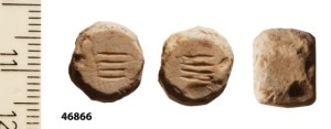 A four gera weight that was found in the sifting (First Temple period)